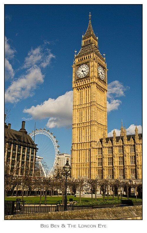 Big Ben. Zabytki w Londynie