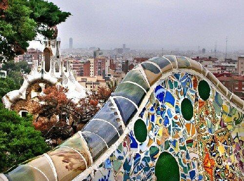 zabytki Barcelony: Guell Park w Barcelonie