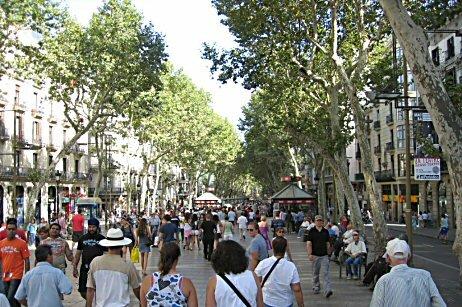 zabytki Barcelony:La Rambla w barcelonie