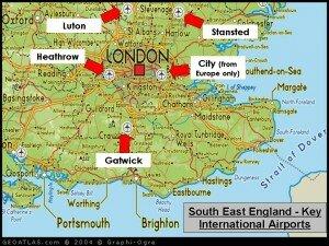 rozmiejszczenie lotnisk w Londynie