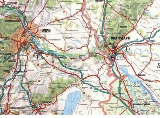 Jak daleko jest od lotniska w Wiedniu do Bratyslławy